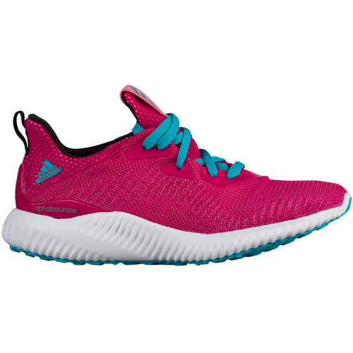 adidas Alphabounce - Girls' Preschool - Pink / Light Blue