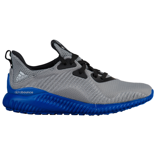 adidas Alphabounce - Boys' Grade School - Grey / Blue