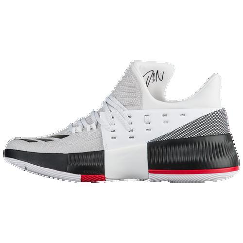adidas Dame 3 - Men's -  Damian Lillard - White / Black