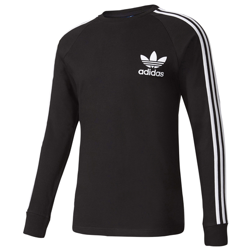 Adidas originals california long sleeve t shirt men 39 s for Adidas long sleeve t shirt with trefoil logo