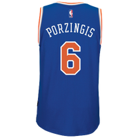 adidas NBA  Revolution 30 Swingman Jersey - Men's -  Kristaps Porzingis - New York Knicks - Blue / Orange
