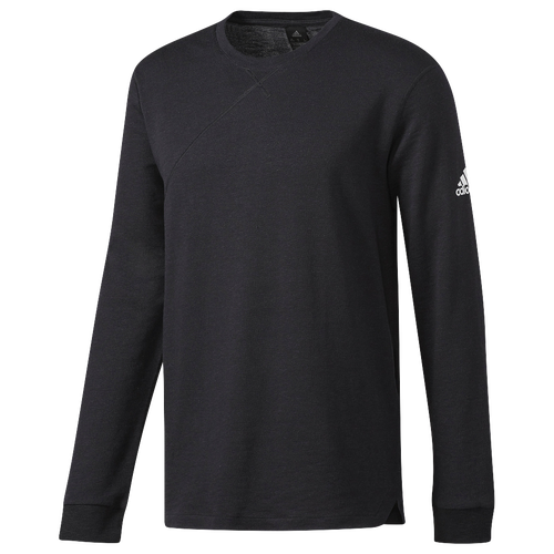 adidas Cross-Up Long Sleeve T-Shirt - Men's - All Black / Black