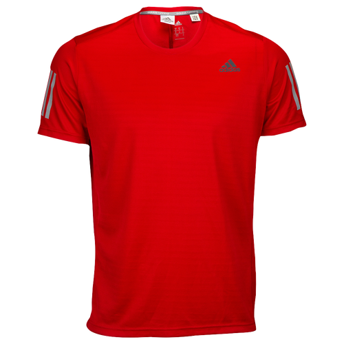 adidas Response Short Sleeve T-Shirt - Men's - Red / Grey