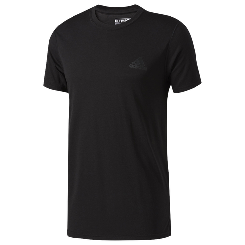 adidas Ultimate Short Sleeve T-Shirt - Men's - All Black / Black