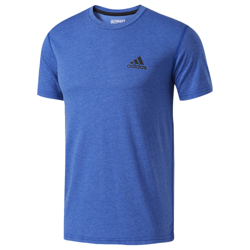 adidas Ultimate Short Sleeve T-Shirt - Men's - Light Blue / Navy