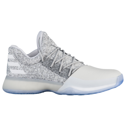 adidas Harden Vol. 1 - Boys' Grade School -  James Harden - Grey / White
