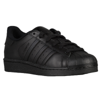 adidas Originals Superstar - Boys' Preschool - All Black / Black