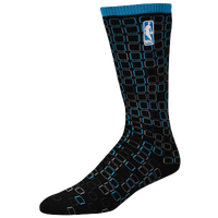 For Bare Feet NBA Digi Stroke Socks - Men's - NBA League Gear - Black / Light Blue