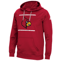 adidas College Sideline Energize Tech Hoodie - Men's - Louisville Cardinals - Red / Black