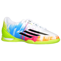 adidas F10 Messi IN - Boys' Grade School - White / Light Green