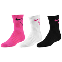 Nike 3 Pack Crew Socks - Girls' Preschool - Pink / White