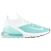 Nike Air Max 270 Flyknit - Women's - White / Aqua