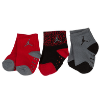 Jordan Ele Gripper Quarter Socks 3 Pack - Boys' Infant - Red / Black