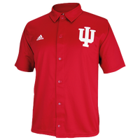 adidas College Snap Shooting Shirt - Men's - Indiana Hoosiers - Red / White