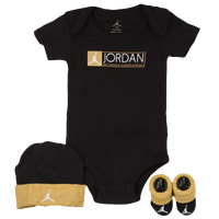 Jordan 3 Piece Retro 12 Creeper Set - Boys' Infant - Black / Gold
