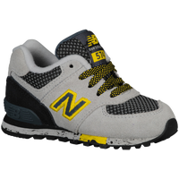 New Balance 574 - Boys' Toddler - Grey / Yellow