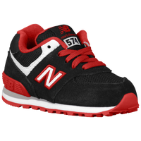 New Balance 574 - Boys' Toddler - Black / Red