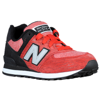 New Balance 574 - Boys' Grade School - Red / Black