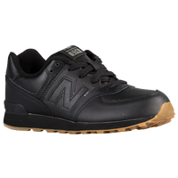 New Balance 574 - Boys' Grade School - Black / Tan