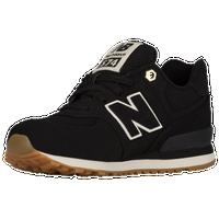 new balance 574 boys black tan