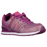 New Balance 574 - Girls' Preschool - Purple / White