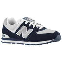 New Balance 574 - Boys' Grade School - Navy / Grey
