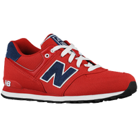 New Balance 574 - Boys' Grade School - Red / Navy