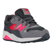 New Balance 580 - Girls' Toddler - Grey / Pink
