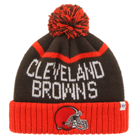 47 Brand NFL Lineman Cuff Pom Knit - Men's - Cleveland Browns - Brown / Orange