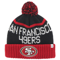 47 Brand NFL Lineman Cuff Pom Knit - Men's - San Francisco 49ers - Red / Black