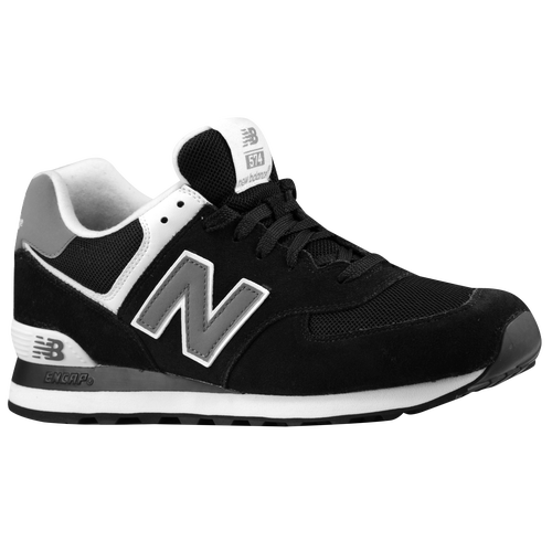 New Balance 574 - Men\u0026#39;s - Black / Grey