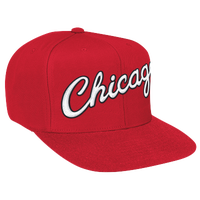 Mitchell & Ness NBA Solid Snapback - Men's - Chicago Bulls - Red / White