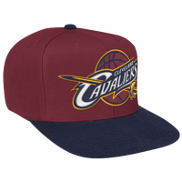 Mitchell & Ness NBA XL Logo Two-Tone Snapback - Men's - Maroon / Navy
