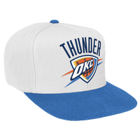 Mitchell & Ness NBA XL Logo Two-Tone Snapback - Men's - Oklahoma City Thunder - White / Light Blue