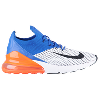 Nike Air Max 270 Flyknit - Men's - White / Blue