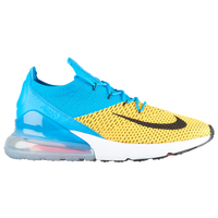 Nike Air Max 270 Flyknit - Men's - Light Blue / Yellow