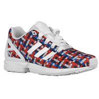 adidas Originals ZX Flux - Boys' Preschool - White / Blue