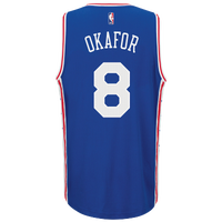 adidas NBA  Revolution 30 Swingman Jersey - Men's -  Jahlil Okafor - Philadelphia 76ers - Blue / White