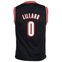 adidas NBA Replica Jersey - Boys' Grade School - Portland Trail Blazers - Black / White
