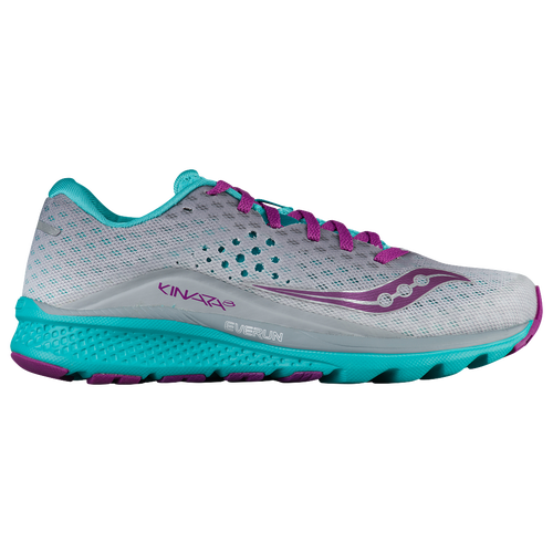 Saucony Kinvara 8 - Women's - Grey / Light Blue