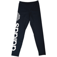 adidas Originals Linear Logo Leggings - Girls' Grade School - Navy / White