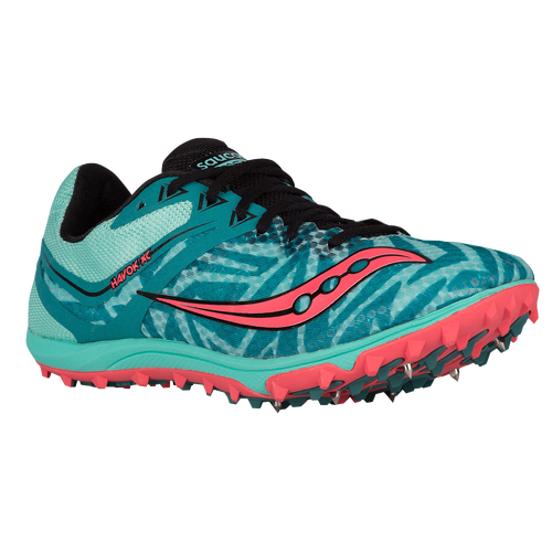 Saucony Havok XC Spike - Women's - Light Blue / Red