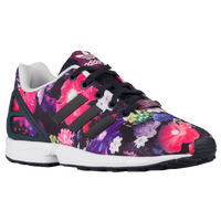 adidas Originals ZX Flux - Girls' Grade School - Black / Multicolor