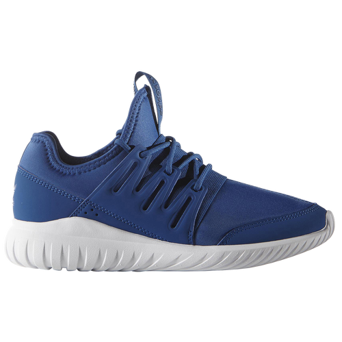 Adidas Tubular Radial Blue On Feet