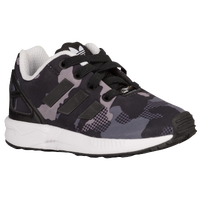 adidas Originals ZX Flux - Boys' Toddler - Black / Grey