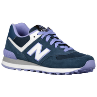 New Balance 574 - Women's - Navy / Purple