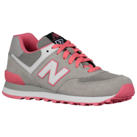 New Balance 574 - Women's - Grey / Pink