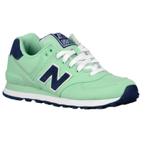 New Balance 574 - Women's - Light Green / Navy