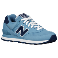New Balance 574 - Women's - Light Blue / Navy
