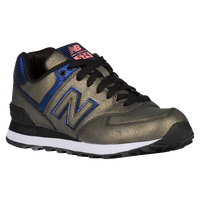 New Balance 574 - Women's - Grey / Light Blue
